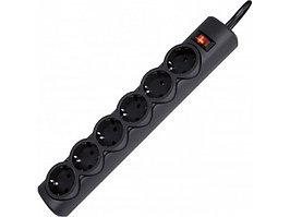 Сетевой фильтр Defender DFS 151 - 1,8 М, 6 розеток, черный