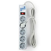 Сетевой фильтр Power Cube SPG-B-10, 10А/2,2кВт, 3м,  5 розеток серый