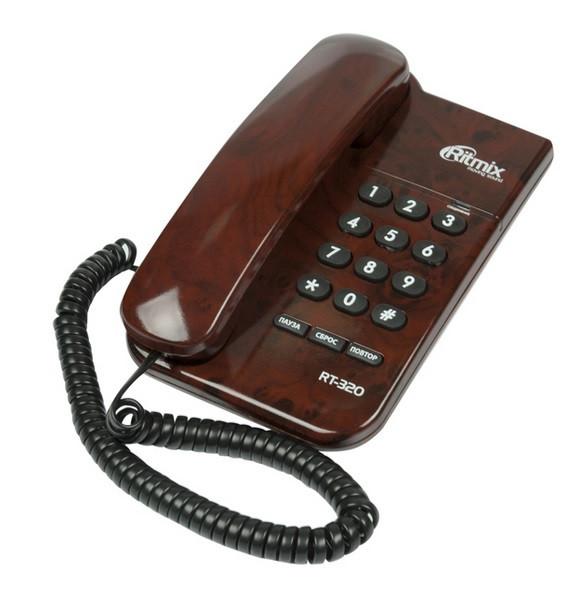 Телефон проводной Ritmix RT-320 кофейный мрамор