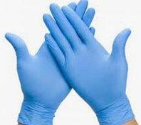 Перчатки нитриловые, неопудренные 100 шт/упак голубой M