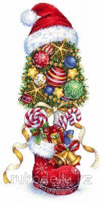 """Набор для вышивания крестом """"Топиарий Новогодний"""""""
