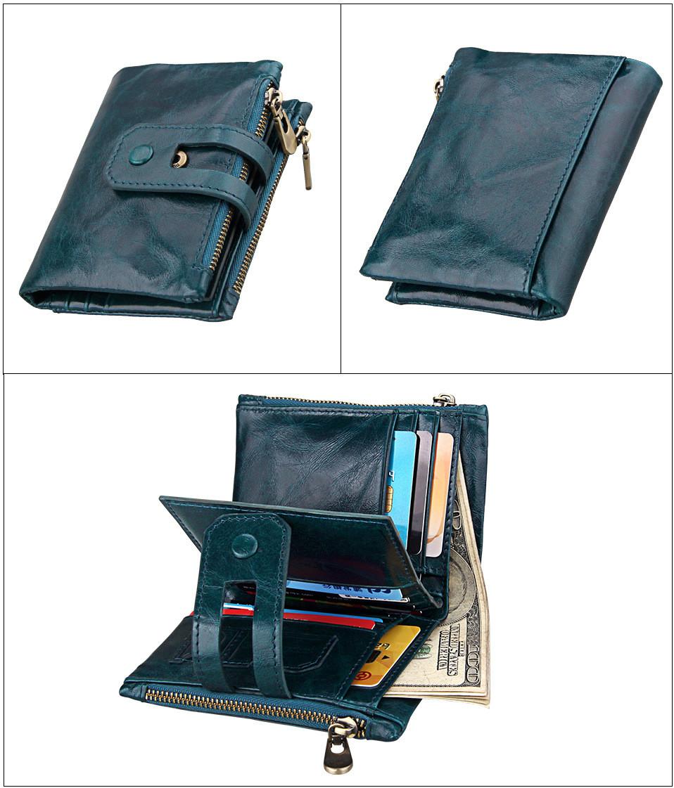 Кожаное портмоне от воровства с карточек - технология RFID. Подарок!