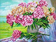 """Набор для вышивания бисером """"Розовые пионы"""""""