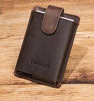 """Кожаный бокс для кредитных карт """"Contacts""""- кардхолдер. RFID Protected."""
