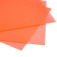 Жесткий листовой PVC пластик флуоресцентный (оранжевый) (1,22м х2,44м)