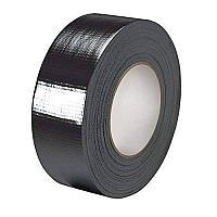 Клейкая лента (скотч) для ковролина (черная, армированная) (4,8см х25м)