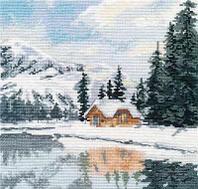 """Набор для вышивания крестом """"Озеро Луиз"""""""