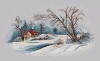 """Набор для вышивания крестом """"Зимний пейзаж """""""