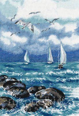 """Набор для вышивания крестом """"О море. море! """""""