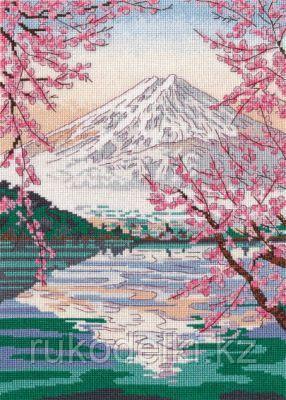 """Набор для вышивания крестом """"Фудзияма и озеро Кавагути """""""