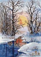 """Набор для вышивания крестом """"Зимний ручей """""""