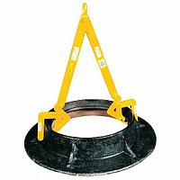 Manhole Sleeve Lifter, 1,000 lb, 12 in to 30 in, Clamp Range 0 in to 2-7/8 in, Headroom 36 5/8 in