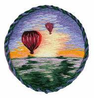 """Набор для вышивания """"Брошь. Воздушные шары"""""""