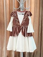Национальный костюм для девочки пудра