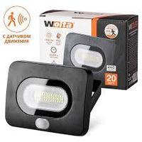 Светодиодный прожектор LED 20 Вт с датчиком движения WFL-20W/05s  5500K IP65 1600 Лм Wolta