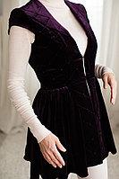 Камзол женский стеганный велюр фиолетовый