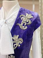 Камзол женский панбархат с вышивкой сиреневый