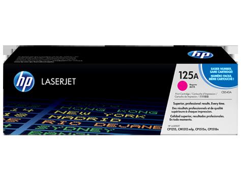 HP CB543A Картридж лазерный HP 125A пурпурный, ресурс 1400 стр