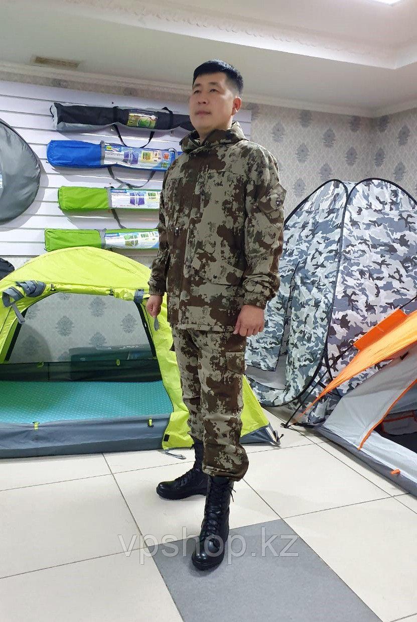 Демисезонный камуфляжный костюм окрас Грунт, для охоты, для рыбалки