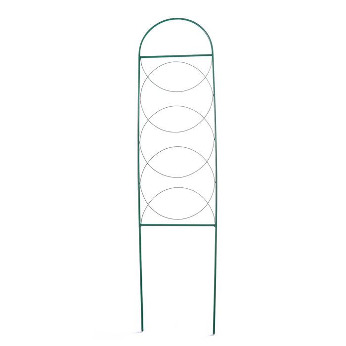 Шпалера, 130 × 34 × 1 см, металл, зелёная, «Кружок»