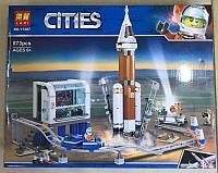 Конструктор Lari 11387 Cities Ракета для запуска в далекий космос и пульт управления запуском