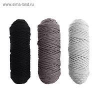 Шнур для вязания 3мм 100% хлопок, 50м/85гр, набор 3шт (Комплект 6)