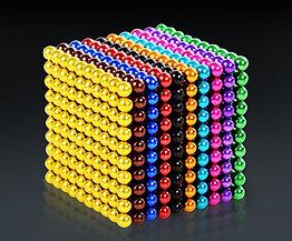 Разноцветный Neocube - магнитный Неокуб. 216 шариков. Диаметр 5 мм. Головоломка. Конструктор. Антистресс.