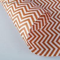 """Бумага упаковочная крафт """"ЗигЗаг коричневый"""", 0,5 х 10 м, 70 г/м² гр/м2"""