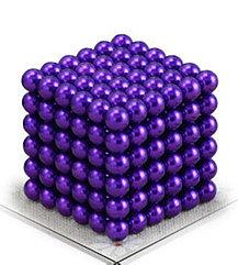 Магнитный Неокуб Фиолетовый. Neocube. 216 шариков. Диаметр 5 мм. Головоломка. Конструктор. Антистресс.