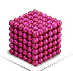 Магнитный Неокуб Розовый. Neocube. 216 шариков. Диаметр 5 мм. Головоломка. Конструктор. Антистресс.