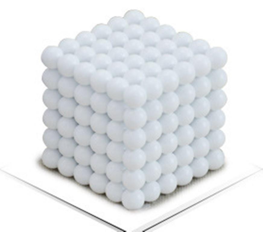 Магнитный Неокуб Белый. Neocube. 216 шариков. Диаметр 5 мм. Головоломка. Конструктор. Антистресс.