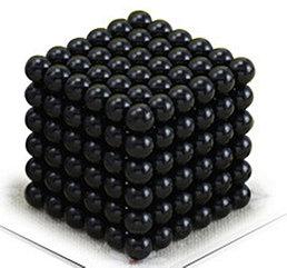 Магнитный Неокуб Черный. Neocube. 216 шариков. Диаметр 5 мм. Головоломка. Конструктор. Антистресс.