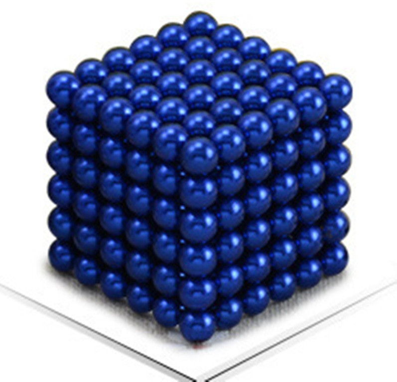 Магнитный Неокуб Синий. Neocube. 216 шариков. Диаметр 5 мм. Головоломка. Конструктор. Антистресс.