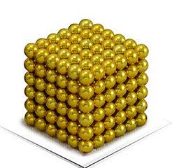 Магнитный Неокуб Желтый. Neocube. 216 шариков. Диаметр 5 мм. Головоломка. Конструктор. Антистресс.