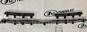 Защита радиатора (верх, 3 части) Лада Гранта FL