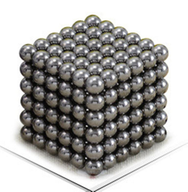 Магнитный Неокуб Серый. Neocube. 216 шариков. Диаметр 5 мм. Головоломка. Конструктор. Антистресс.