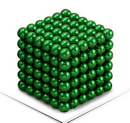 Магнитный Неокуб Зеленый. Neocube. 216 шариков. Диаметр 5 мм. Головоломка. Конструктор. Антистресс.
