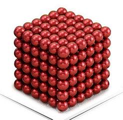 Магнитный Неокуб Красный. Neocube. 216 шариков. Диаметр 5 мм. Головоломка. Конструктор. Антистресс.