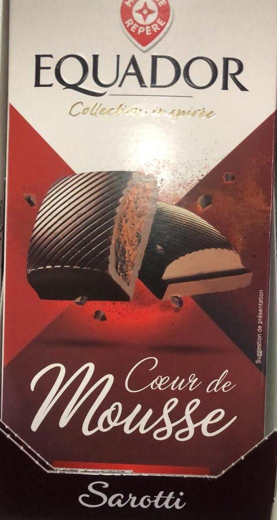 Молочный шоколад EQVADOR Mousse Sarotti  200гр