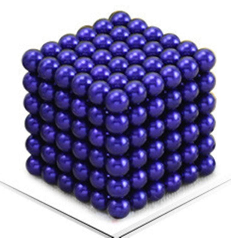 Neocube. Магнитный Неокуб Синий. 216 шариков. Диаметр 5 мм. Головоломка. Конструктор. Антистресс.
