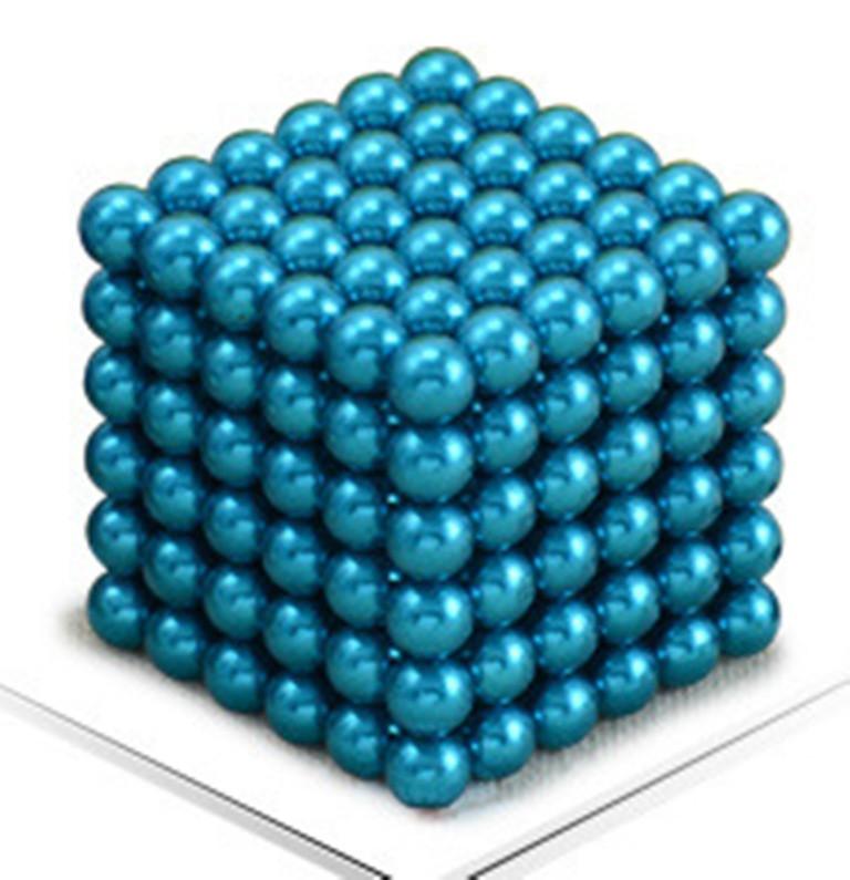 Neocube. Магнитный Неокуб Голубой. 216 шариков. Диаметр 5 мм. Головоломка. Конструктор. Антистресс.
