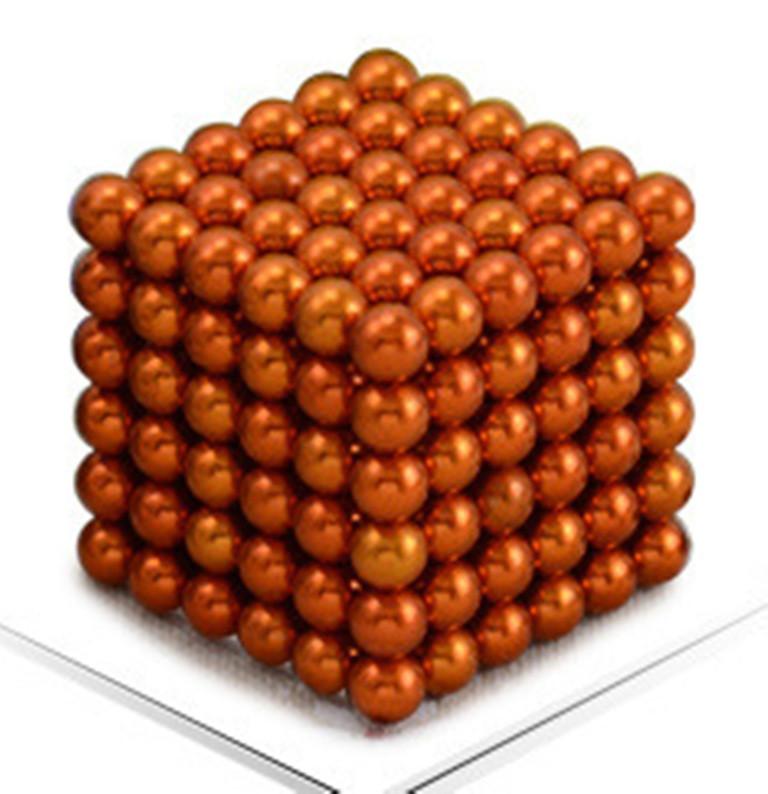 Neocube. Магнитный Неокуб Оранжевый. 216 шариков. Диаметр 5 мм. Головоломка. Конструктор. Антистресс.