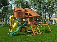 """Детская площадка IgraGrad """"Крепость Deluxe"""" 2 с веревочной лестницей, качелей, с горкой трубой., фото 1"""