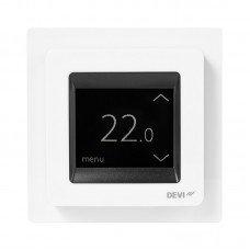 Программируемый сенсорный терморегулятор DEVlreg™ Touch цвет белый с рамкой