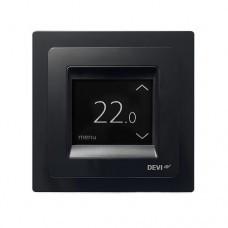 Программируемый сенсорный терморегулятор DEVlreg™ Touch цвет черный с рамкой
