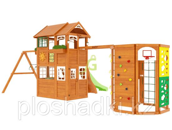 """IgraGrad """"Клубный домик 2 с WorkOut"""" Luxe с стеной альпиниста, скалодромом, баскетбольной кольцо."""