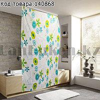 Водонепроницаемая тканевая шторка для ванной Waterproof Shower Curtain AX-YL18 180x180 см