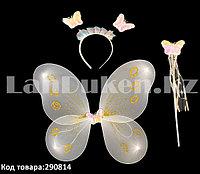 Набор феи крылья и волшебная палочка (белый)