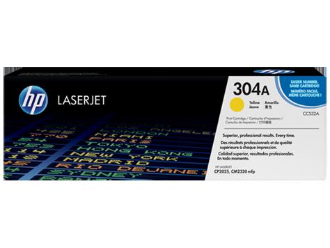 HP CC532A Картридж лазерный HP 304A желтый, ресурс 2800 стр