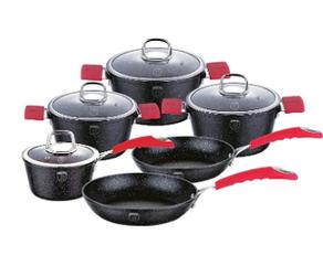 Набор посуды Berlinger Haus Black Stone Touch Line BH-1169 10 пр.